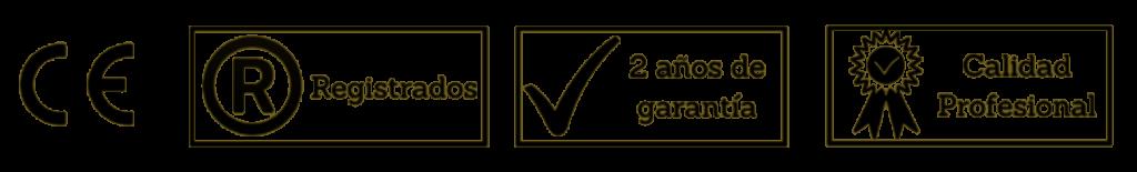Certificados de copyright, garantía y calidad
