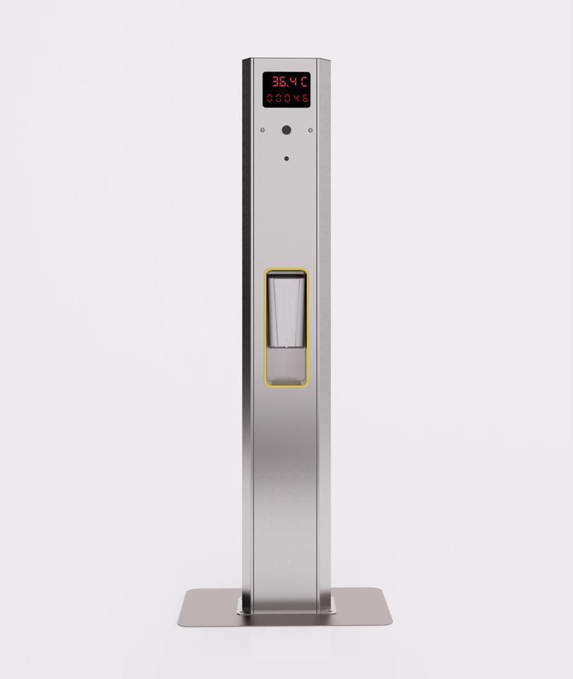Máquina de medición de temperatura y desinfección